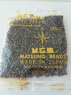 Matsuno japanese new, silver lined glass beads, size 8 rocailles, Amethyst, 100g