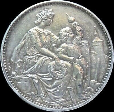 Switzerland Shooting Thaler, Schaffhausen 5 Francs 1865, Silver, R-1054b [0362]