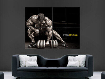 Bodybuilding Poster Paco Bautista Fitness Bodybuilder  Workout Weightlifting