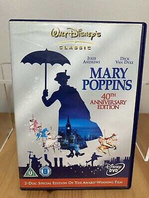 DISNEY Mary Poppins 40TH ANNIVERSARY EDITION (2 DISC EDITION) DVD - FREE POSTAGE