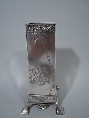 Tiffany Vase - 2978 - Early Antique Japonesque   American Sterling Silver