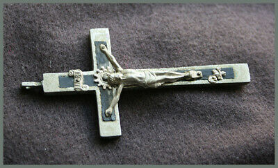 antique Pectoral Catholic Crucifix with skull and crossbones - Germany