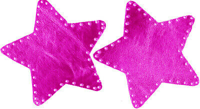 Pink Metalic - Star Shaped - 100% Leather - Elbow Patches