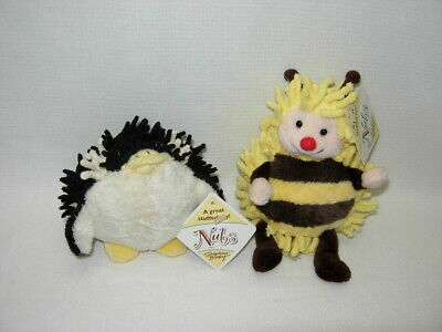 Stephan Baby NUBS RATTLES Set of 2   PENGUIN and BEE