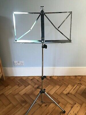 Kinsman Metal Adjustable Music Stand Sheet Holder Folding Foldable