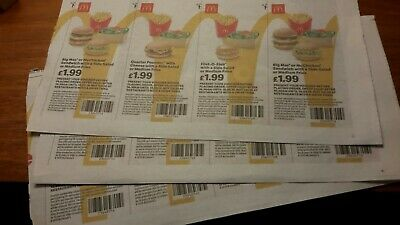 McDonalds Food Vouchers x 24 valid to 15/09/2019
