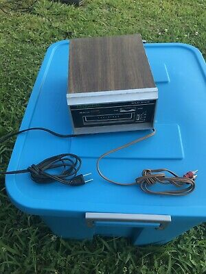 VINTAGE Electrophonic Solid State 8 Track Player TESTED RARE EIGHT TRACK