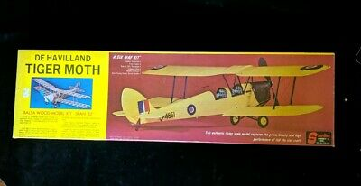 BALSAWOOD AIRPLANE 1 4M De Havilland DH82a Tiger Moth KIT for Adults