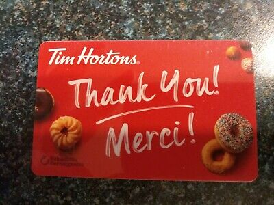 Collectable Tim Hortons Merci Donuts Gift Card #Fd61813..No Monatary Value