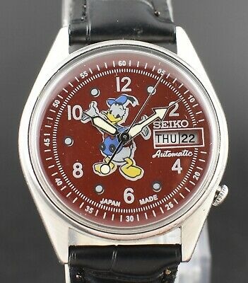 Vintage Seiko Automatic Donald Duck 17 Jewel Cal.6309A Day Date Men's  Watch