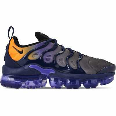 separation shoes 72a8f 5ec1a NIKE AIR VAPORMAX Plus Blue Orange Womens AO4550-500 ...