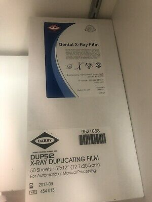 """Darby x-ray Duplicating Dental Film 5"""" x 12"""" DUP 512. Open box. 44 out of 50."""