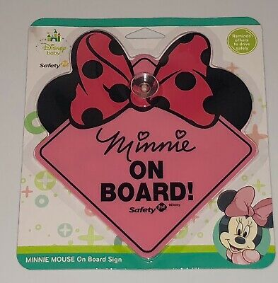 New Disney Minnie Mouse Baby on Board Sign