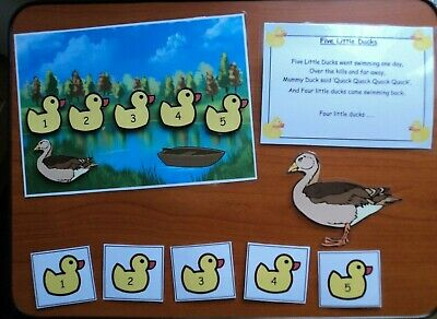 Eyfs 5 Little Ducks Nursery Rhyme Teaching Resource Display Sen Childminder Math