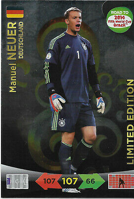 MANUEL NEUER - Limited Edition / Panini Adrenalyn XL Road to Word Cup 2014