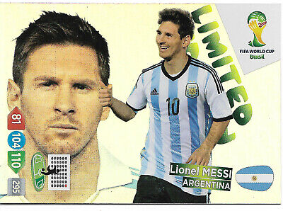 LEO MESSI - Limited Edition / Panini Adrenalyn World Cup Brazil 2014