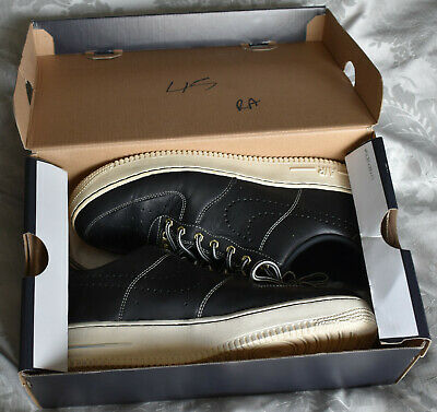 Nike Air Force 1 '07 LV8 Utility Workboot Black Leather Size UK 8 EUR 42.5
