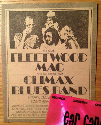 """The Real"" FLEETWOOD MAC Bob Welch McVie CLIMAX BLUES 1974 Original Ad Clipping"