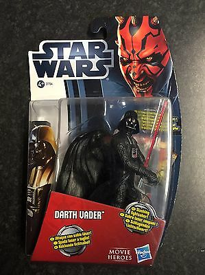 Star Wars Movie Heros Darth Vader Figure With Slashing Lightsabre And Stand