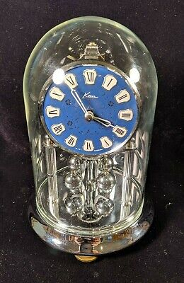 Kern & Sohne Miniature 400-Day Anniversary Clock, Chrome Case, Cleaned & Oiled