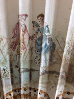 Hand Painted 19th Century Silk Fan In Box.  Duvelleroy ?