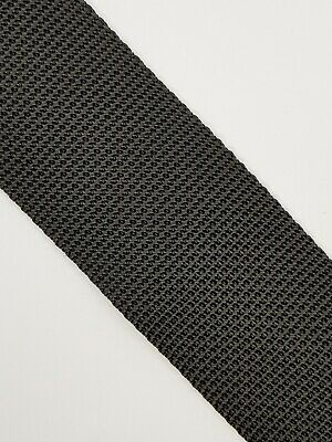 Black polypropylene webbing 50 mm strong and robust