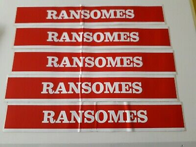 Ransomes Jacobsen Red Plough Tractor Decals