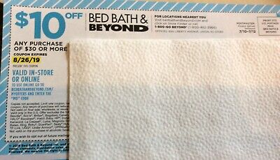 Bed Bath And Beyond $10 Off on $30 Coupons ONLINE OR IN-STORE Expires On 8/26/19