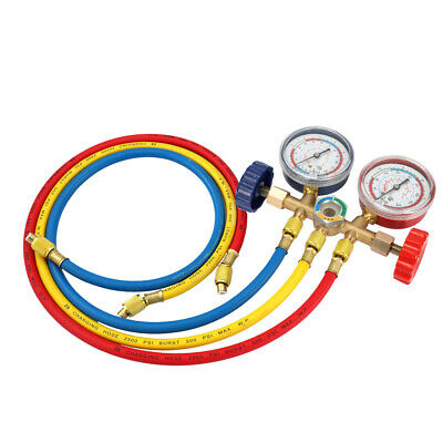 Refrigerant Manifold Gauge Set Air Conditioning Tools with Hose and Hook D7U6