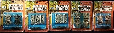 RARE Vintage Homecraft Lot Of 5 Household Hinges Die-Cast NOS Cabinets Chests