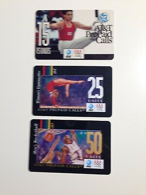 Collectible 1996 AT&T Olympic Pre-Paid Phone Cards (3 cards)