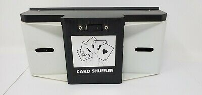 Playing Card Shuffler Vintage 2 D Battery Operated Tested Working