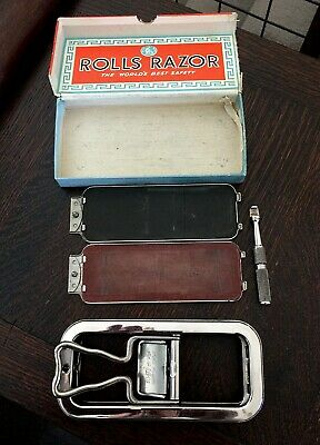 Vintage Imperial No. 2 Rolls Razor Nickel-Plated Made in ENGLAND <<..USED..>>