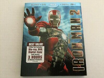 Iron Man 2 (Blu-ray/DVD, 2010, No Digital Copy)
