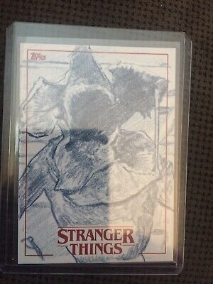 2018 Topps Stranger Things Sketch Card By Phillip Trujillo