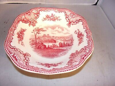 "JOHNSON BROS Old Britain Castles 7"" Square Soup Bowl ""City of Exterin"