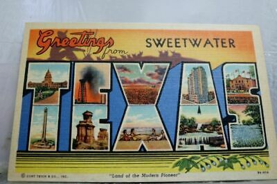 Texas TX Sweetwater Greetings Postcard Old Vintage Card View Standard Souvenir