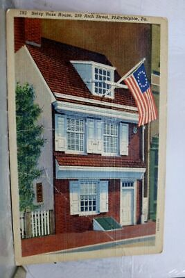 Pennsylvania PA Philadelphia Betsy Ross House Postcard Old Vintage Card View PC