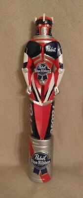"Excellent PBR Pabst Blue Ribbon Kegatron Robot 11.5""  Beer Keg Tap Handle Tapper"