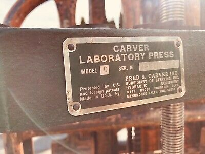 Beautiful Commercial Carver Lab Press Model C