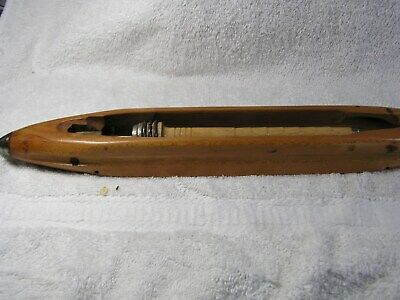 Vintage Wooden Weaving Loom Boat Shuttle - 16 inches - Halstead & Sons  MINTY