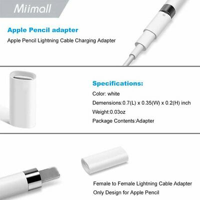 Apple Adapter Fr Iphone/Ipad/ Pro Pencil Brush Charger Adapter Fr Iphone Pen YH