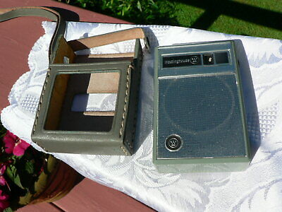 Vintage Westinghouse Transistor Radio H-707P6Gpa Green With Case Tested Works