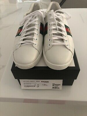 463068900 Gucci New Ace Men's Designer Sneakers Size 40 Gently Used Shoes Footwear