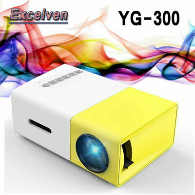 Home Mini Pocket LED Projector YG300 320*240p HD 1080P AV USB SD HDMI Interface
