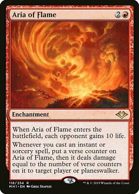 Magic the Gathering MTG Modern Horizons - ARIA OF FLAME - NM