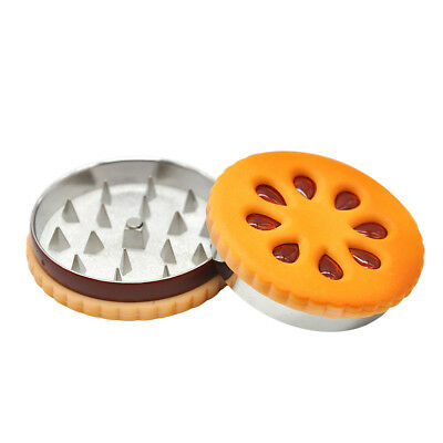 1 X Cookie Shape 2 Parts 56MM Tobacco Metal Herb Grinder Spice Miller Shark