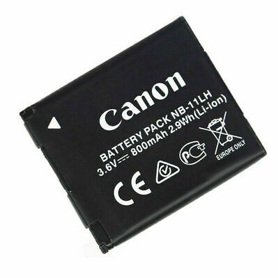 Genuine Canon Battery Pack NB-11LH NB-11L 3.6v, 800mAh 2.9Wh (Li-ion)