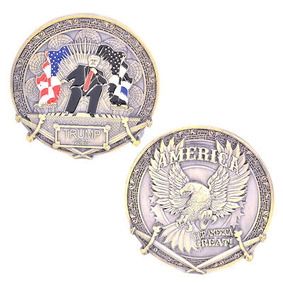 Donald Trump 2020 Commemorative Coin King's return Challenge Coin Collection.