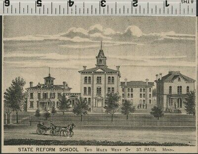 State Reform School West of St. Paul, Minnesota: Authentic 1874 View